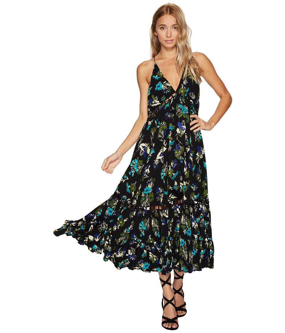 Free People Pages of Gold Maxi (Black Combo) Women