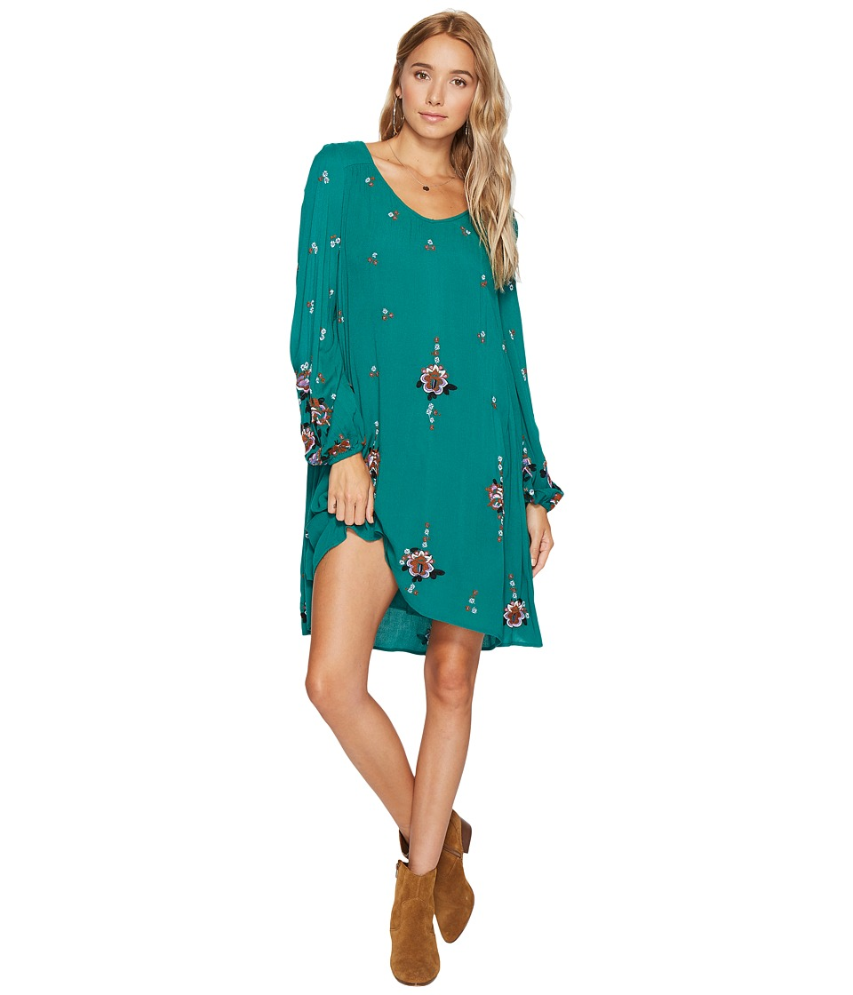 Free People Oxford Embroidered Mini (Green Combo) Women