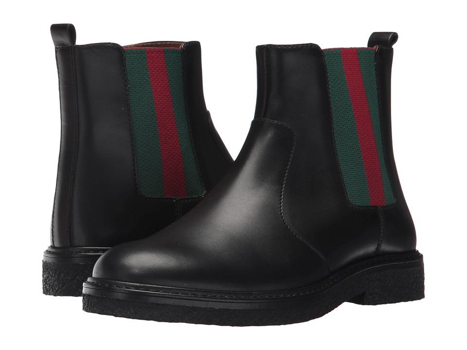 Gucci Kids Joshua Bootie (Little Kid) (Black) Kids Shoes