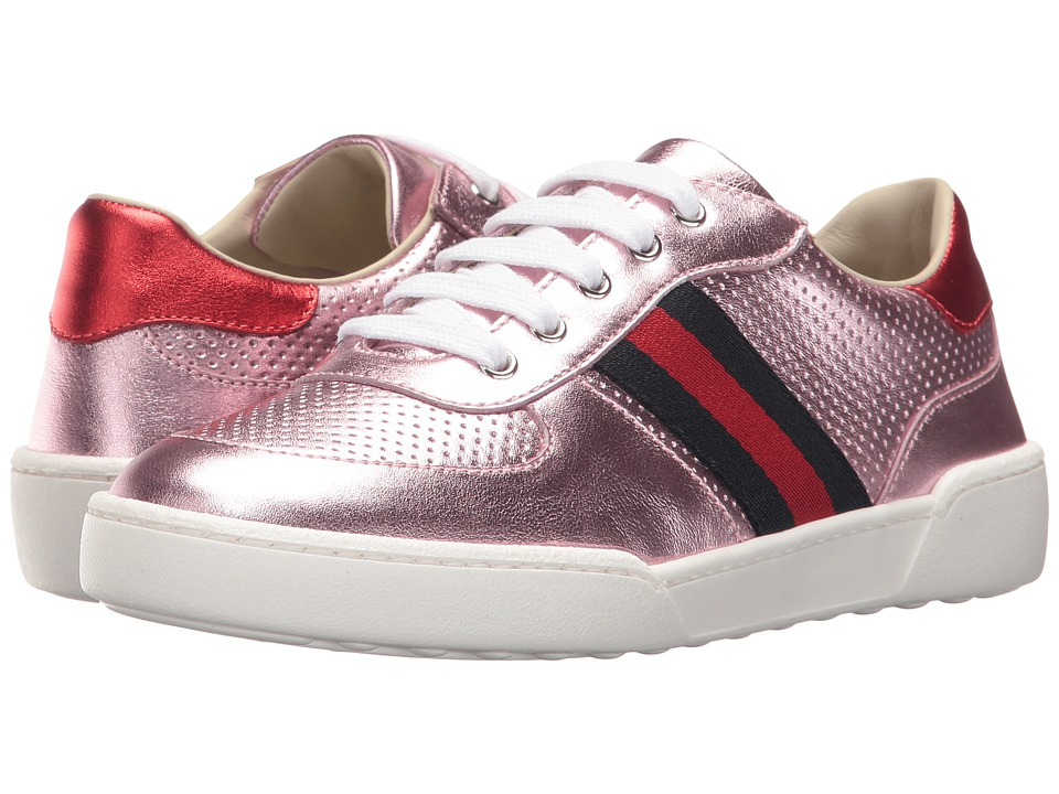 Gucci Kids Willy Sneakers (Little Kid) (Pink) Girls Shoes