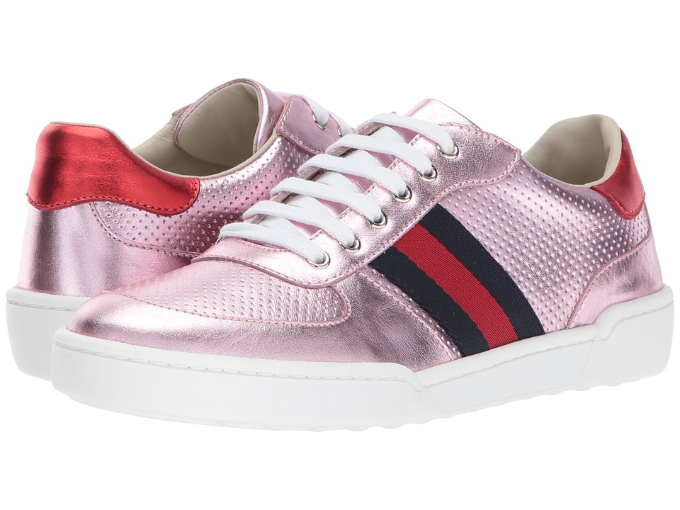 577fcc2d6e010 Gucci Kids Willy Sneakers (Little Kid Big Kid) (Pink) Girls Shoes