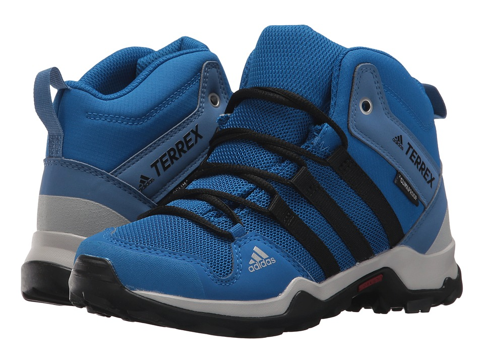adidas Outdoor Kids - Terrex AX2R Mid CP (Little Kid/Big Kid) (Black/Black/Black) Boys Shoes