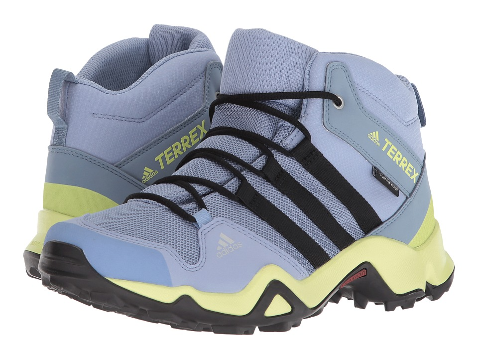 adidas Outdoor Kids - Terrex AX2R Mid CP (Little Kid/Big Kid) (Chalk Blue/Black/Semi Frozen Yellow) Girls Shoes