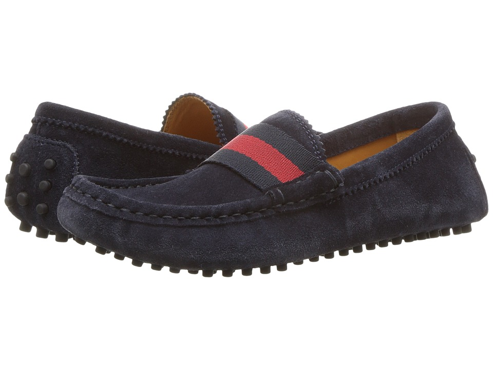 Gucci Kids Dandy Driving (Little Kid) (Blue) Kids Shoes