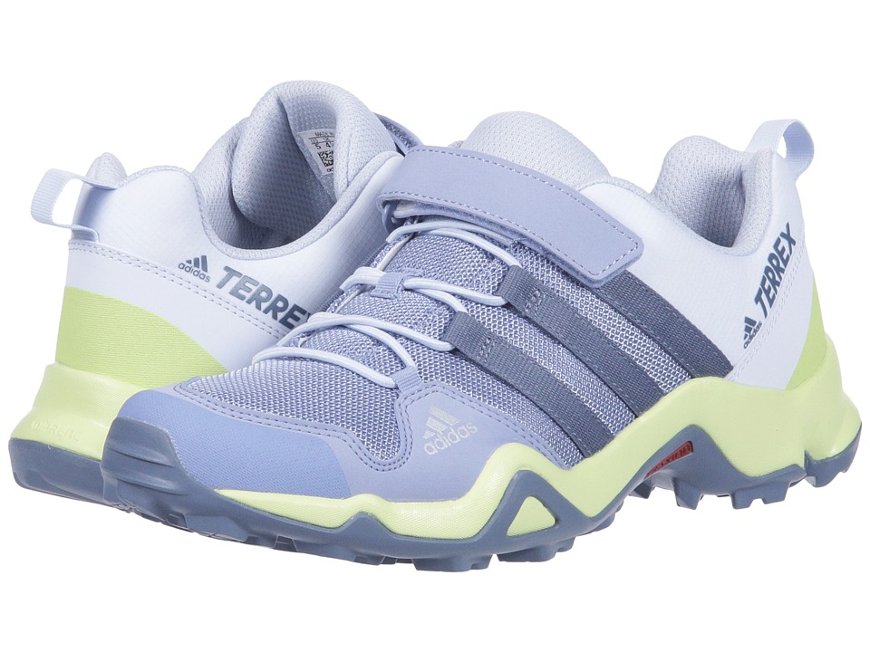 adidas Outdoor Kids - Terrex AX2R CF (Little Kid/Big Kid) (Chalk Blue/Raw Steel/Semi Frozen Yellow) Girls Shoes