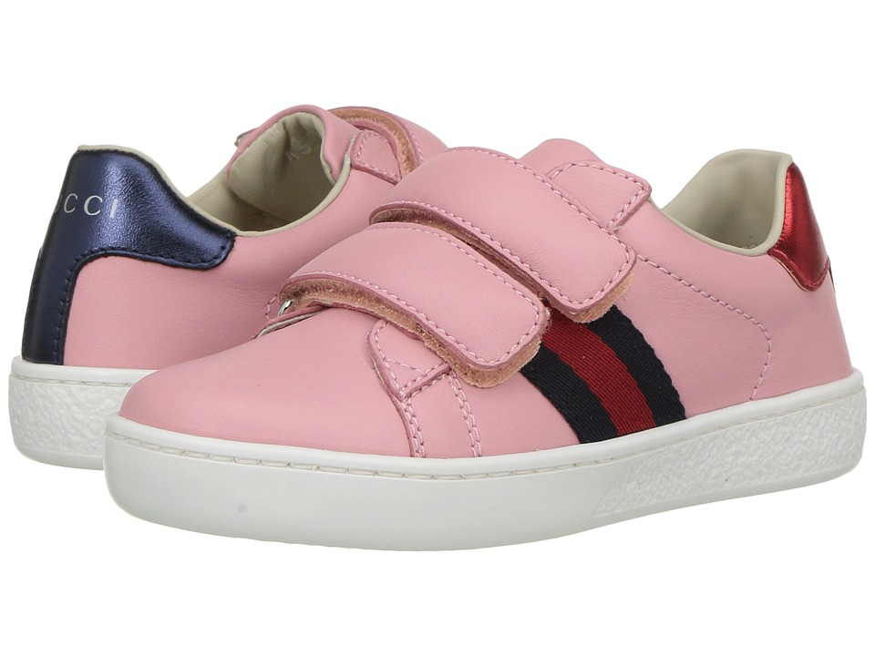Gucci Kids New Ace V.L. Sneakers (Toddler) (Red/Blue) Girls Shoes