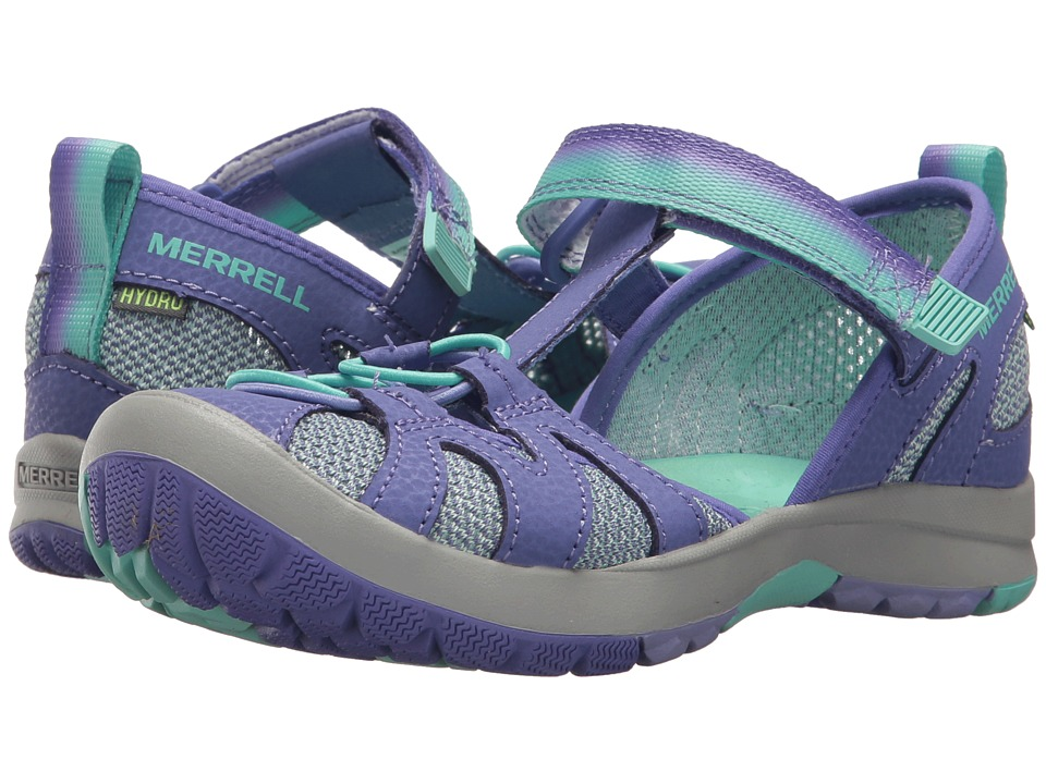 Merrell Kids Hydro Monarch 2.0 (Toddler/Little Kid/Big Kid) (Blue/Mint) Girls Shoes