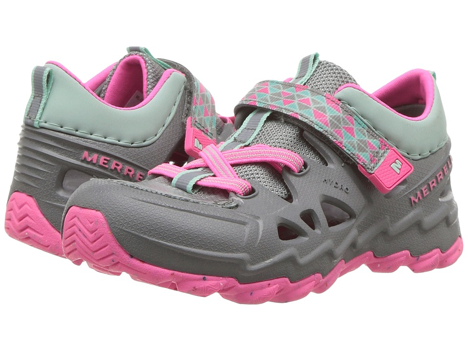 Merrell Kids Hydro Junior 2.0 (Toddler) (Grey/Pink) Girls Shoes