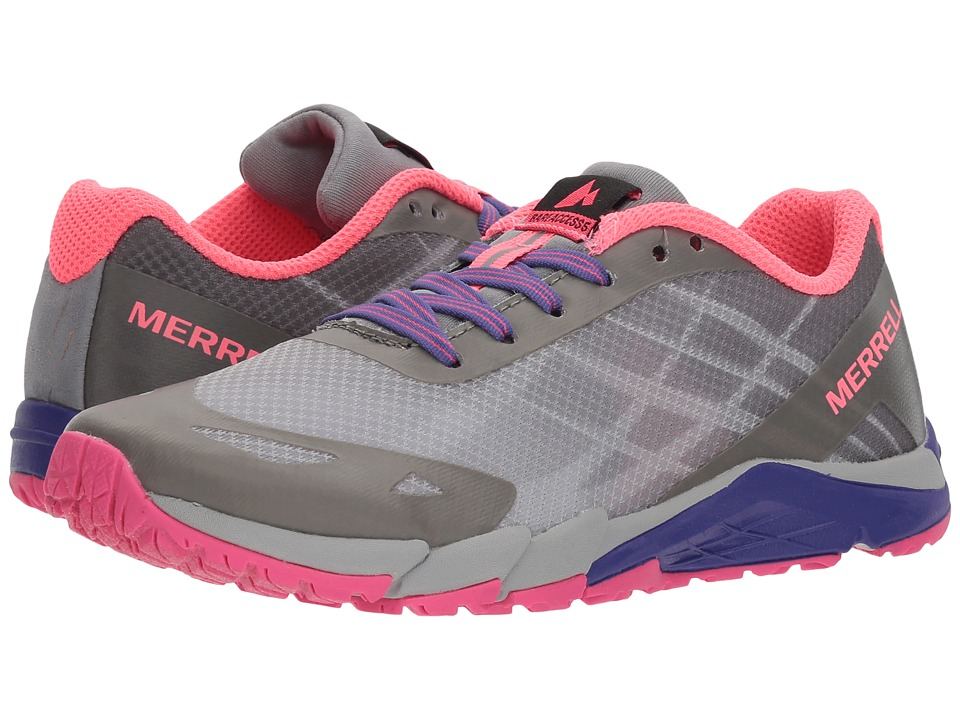 Merrell Kids Bare Access (Little Kid) (Grey/Multi) Girls Shoes