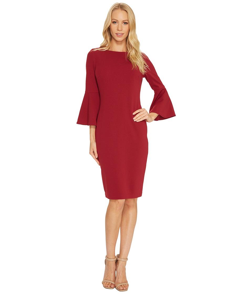 Calvin Klein Bell Sleeve Sheath Dress CD7C133E (Perisimmon) Women