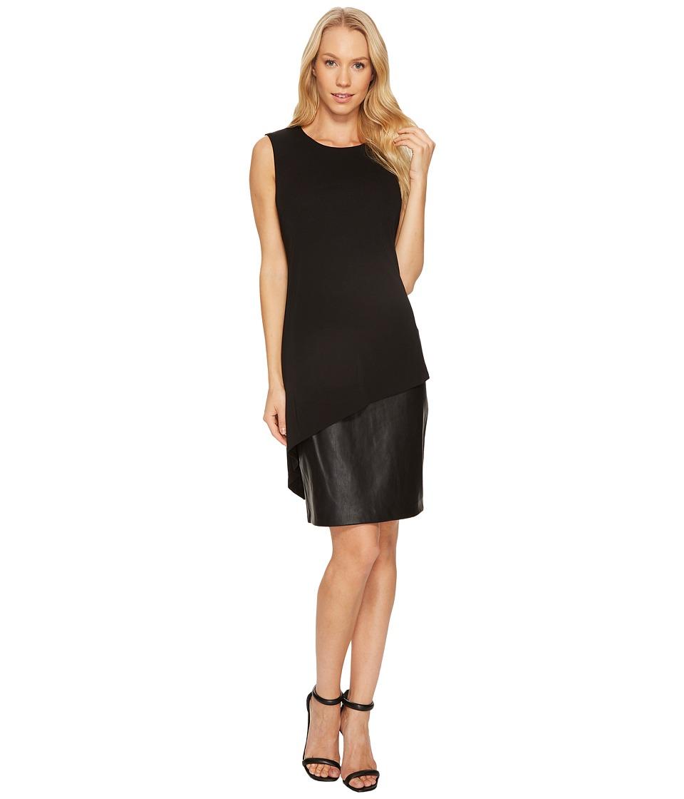 Calvin Klein PU Bottom Sheath Dress CD7A288K (Black) Women