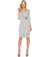 Calvin Klein - V-Neck Ruched Side 3/4 Sleeve Dress CD7A232R