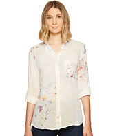 Dylan by True Grit - Chelsea Flower Long Sleeve Roll Tab Sleeve