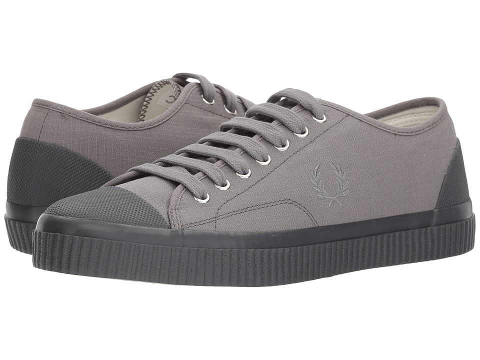 Fred Perry Hughes Shower Resistant Canvas (Falcon Grey/Charcoal) Men