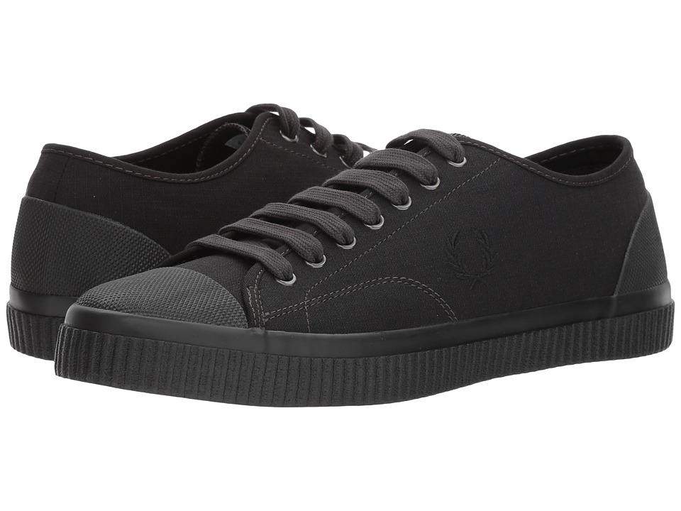 Fred Perry Hughes Shower Resistant Canvas (Black/Charcoal) Men
