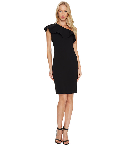 Calvin Klein One Shoulder Ruffle Sheath Dress CD7C124Y