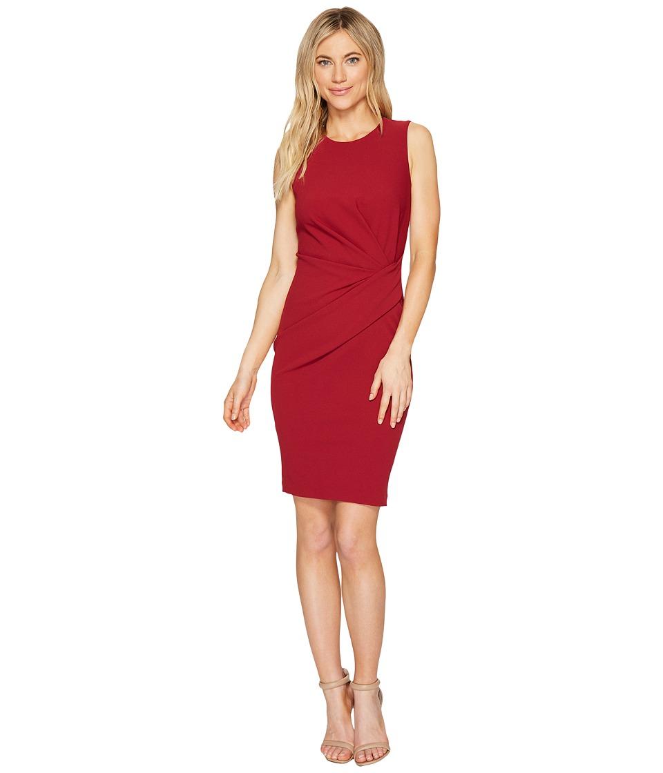 Calvin Klein Ruched Sheath Dress CD7C16AX (Persimmon) Women