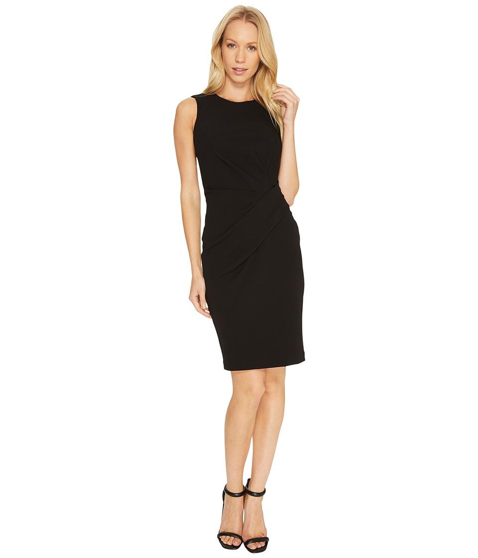 Calvin Klein Ruched Sheath Dress CD7C16AX (Black) Women
