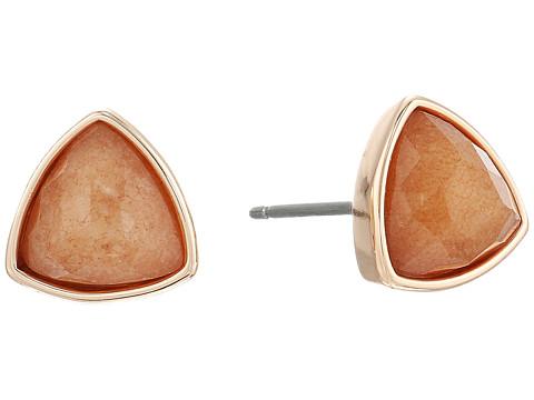 Vera Bradley Geo Facets Triangle Earrings - Rose Gold Tone/Peach