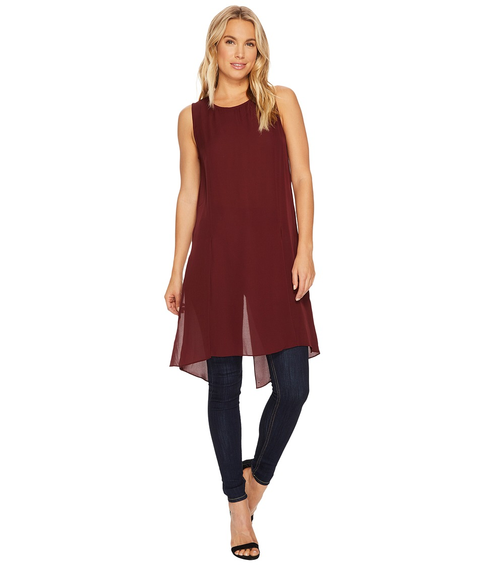 HEATHER - Cybil Silk Split Tunic