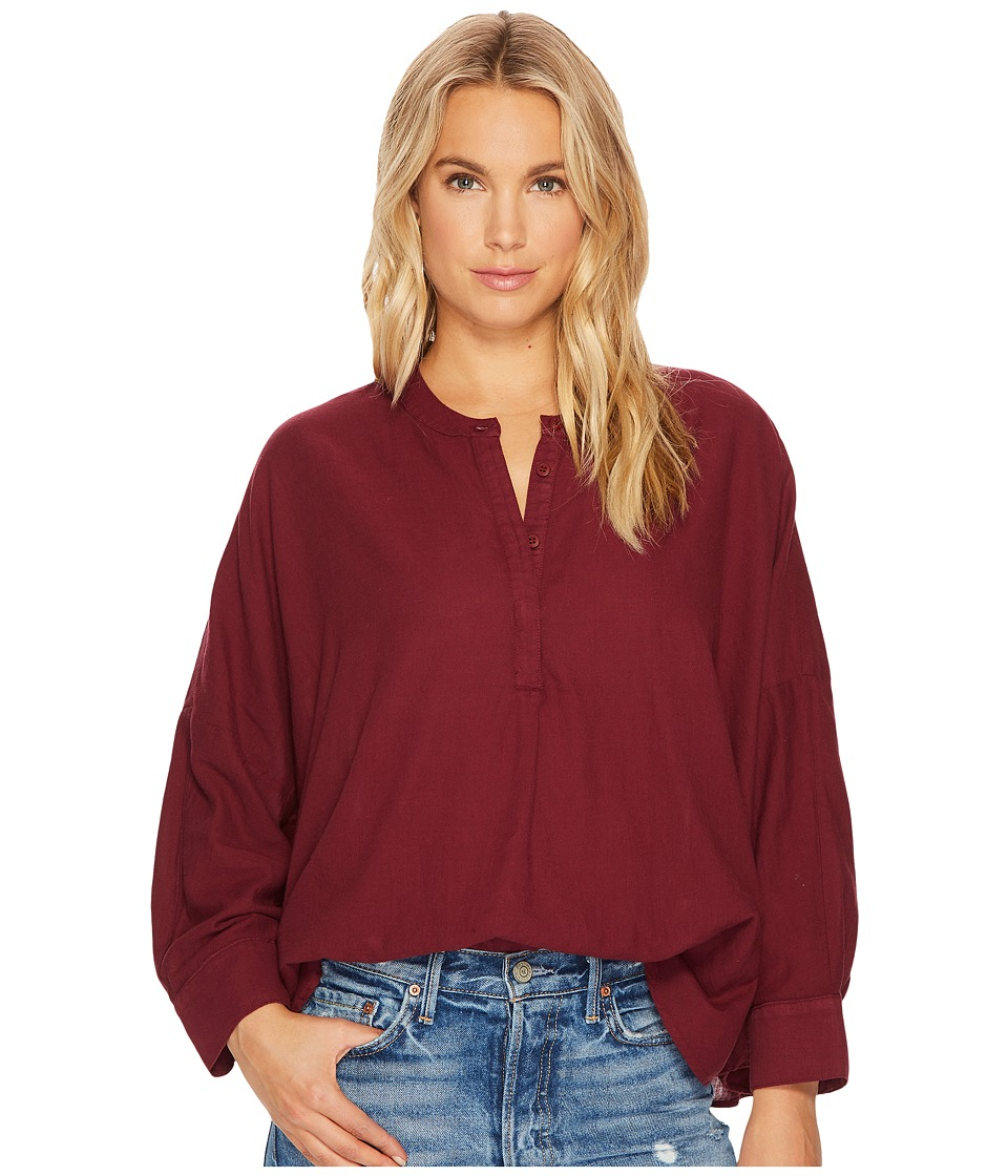 HEATHER - Drew Twill Voile Mandarin Collar Top