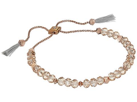 Vera Bradley Geo Facets Slider Bracelet - Rose Gold Tone/Topaz
