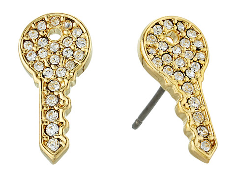 Marc Jacobs Respect Key Studs Earrings - Gold