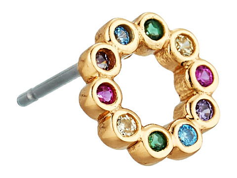 Marc Jacobs Something Special Rainbow Ring Stud Earring - Gold
