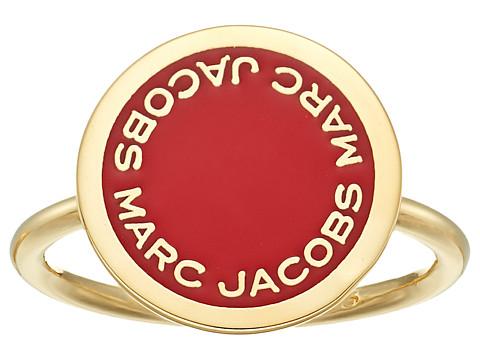 Marc Jacobs Logo Disc Enamel Logo Disc Ring - Bisou Red