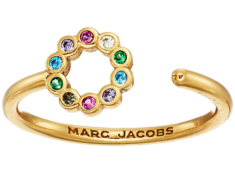 Marc Jacobs Something Special Rainbow Circle Open Ring - Gold