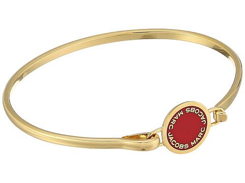 Marc Jacobs Logo Disc Enamel Logo Disc Hinge Bracelet - Bisou Red