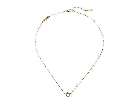 Marc Jacobs Something Special Rainbow Ring Pendant Necklace - Gold