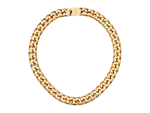 Marc Jacobs Respect Double J Short Necklace - Gold