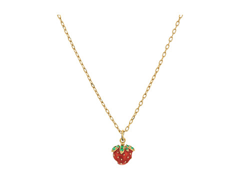 Marc Jacobs Something Special Strawberry Pendant Necklace - Gold