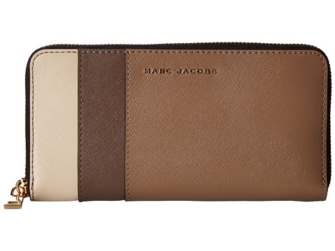 Marc Jacobs Saffiano Color Blocked Standard Continental Wallet - French Grey Multi
