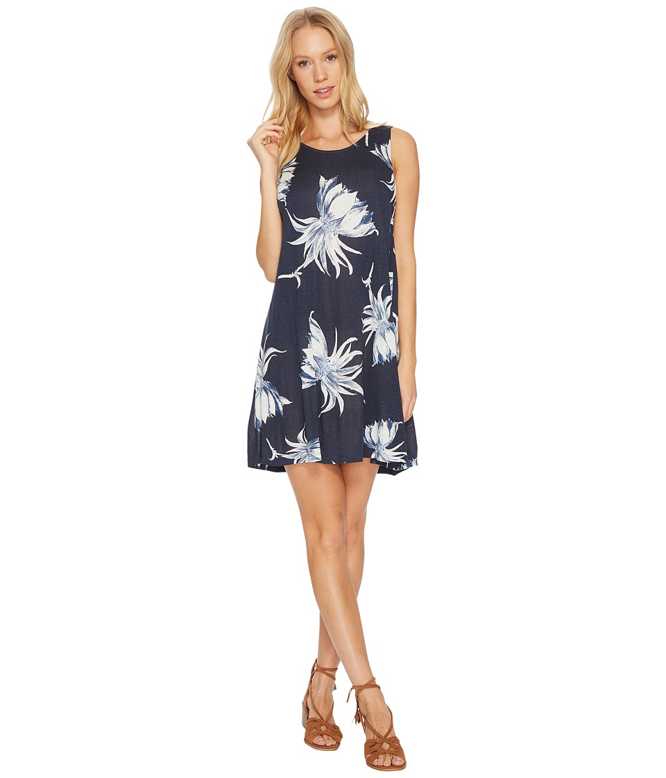 Roxy Sugar Space Knit Dress (Dress Blue Cadaques Flower) Women