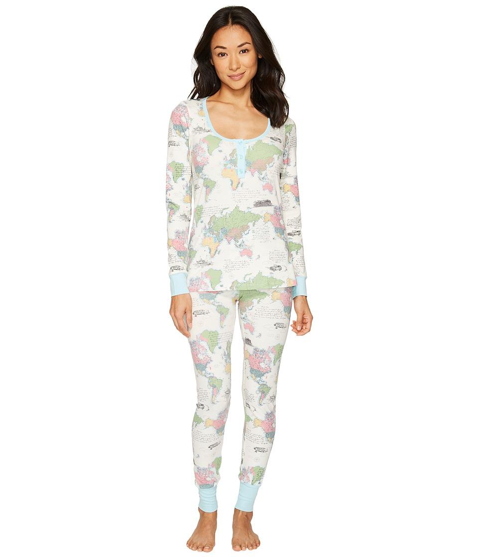 BedHead - Long Sleeve Stretch Knit Henley Pajama Set