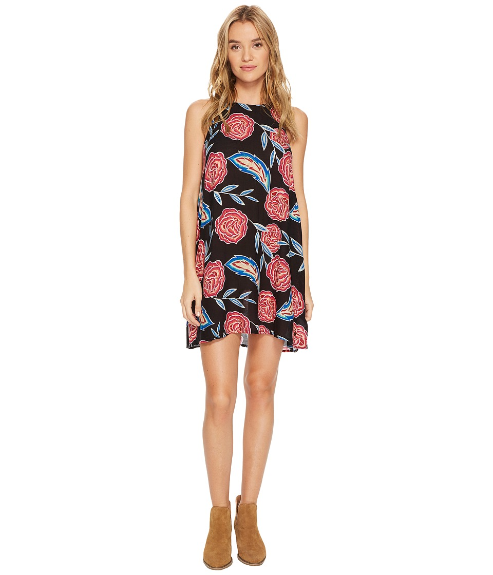 Roxy Sunburnt Land Woven Dress (Anthracite Mexican Roses) Women