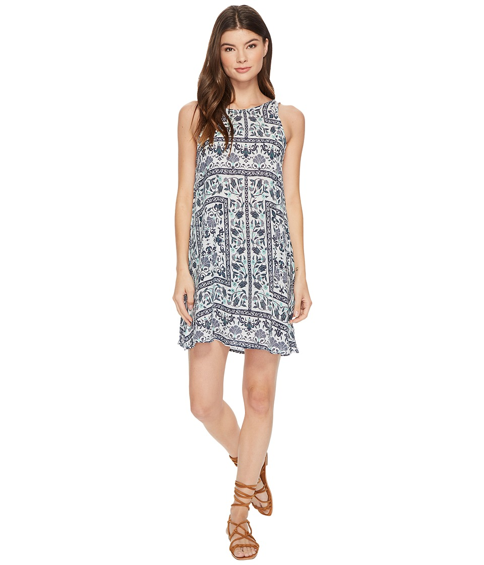 Roxy Sunburnt Land Woven Dress (Dress Blues Square Flower) Women