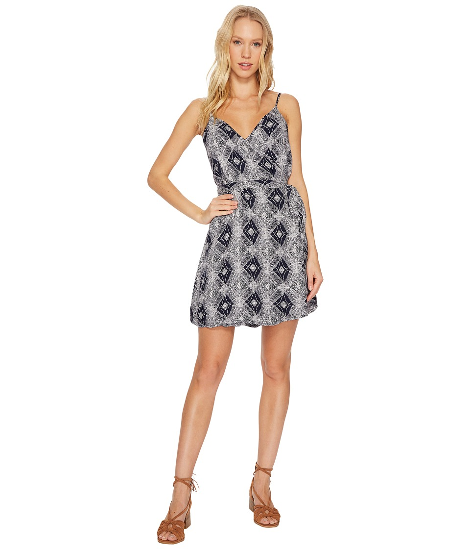 Roxy Drifting Current Woven Dress (Dress Blue Chamane Voice) Women