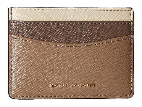 Marc Jacobs Saffiano Color Blocked Card Case - French Grey Multi