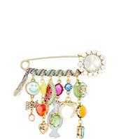 Betsey Johnson - Multi-Stone and Ribbon Charm Brooch