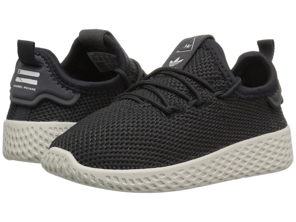 adidas Originals Kids PW Tennis HU (Toddler) (Carbon/White) Kids Shoes