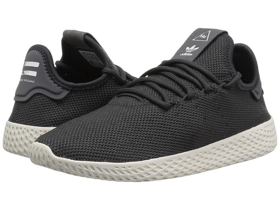 adidas Originals Kids PW Tennis HU (Big Kid) (Carbon/White) Kids Shoes