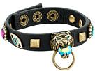 Betsey Johnson - Tiger and Gold Station Black Leather Bracelet