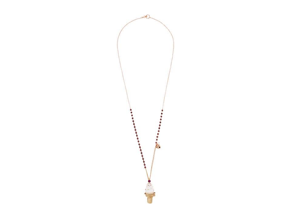 Betsey Johnson - Ice Cream Cone Locket Necklace