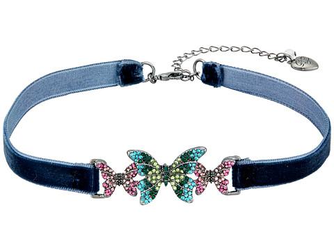 Betsey Johnson Butterfly Choker Necklace - Multicolor