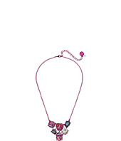 Betsey Johnson - Graffiti Cluster Stone Bib Necklace