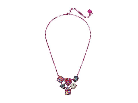 Betsey Johnson Graffiti Cluster Stone Bib Necklace - Multicolor
