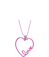 Betsey Johnson - Pink and Crystal Heart Pendant Necklace
